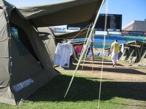 Aussie barracks in cricket stadium
